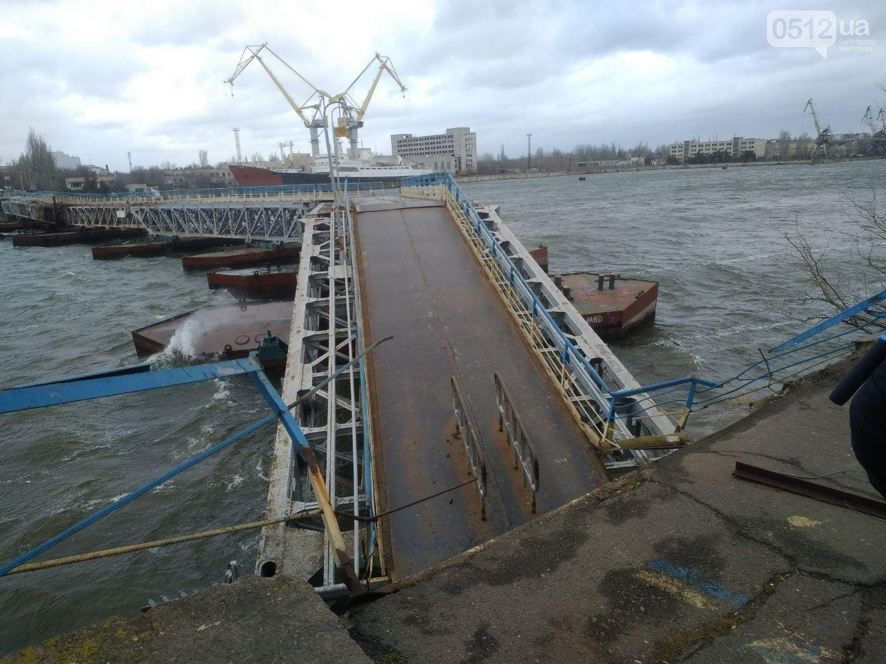 В Николаеве закончили ремонт понтонного моста, который в феврале рухнул из-за ветра, - ФОТО, фото-1