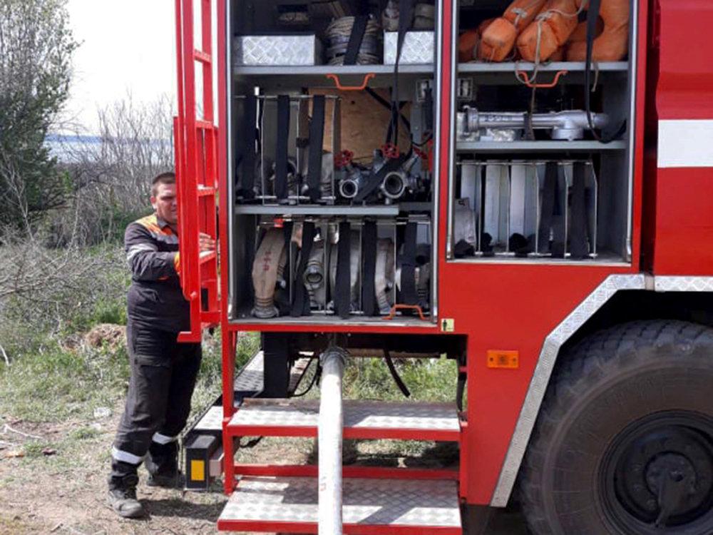 В селе Лиманы, что на Николаевщине, выгорело 4 гектара камыша, - ФОТО, ВИДЕО, фото-5