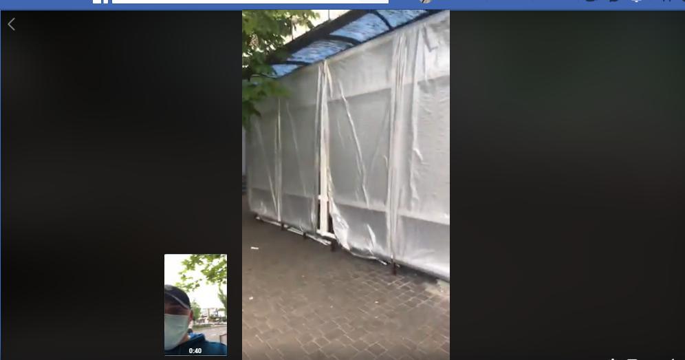 На остановке в Николаеве устанавливают МАФ - на место вызвали полицию, - ФОТО, ВИДЕО , фото-1