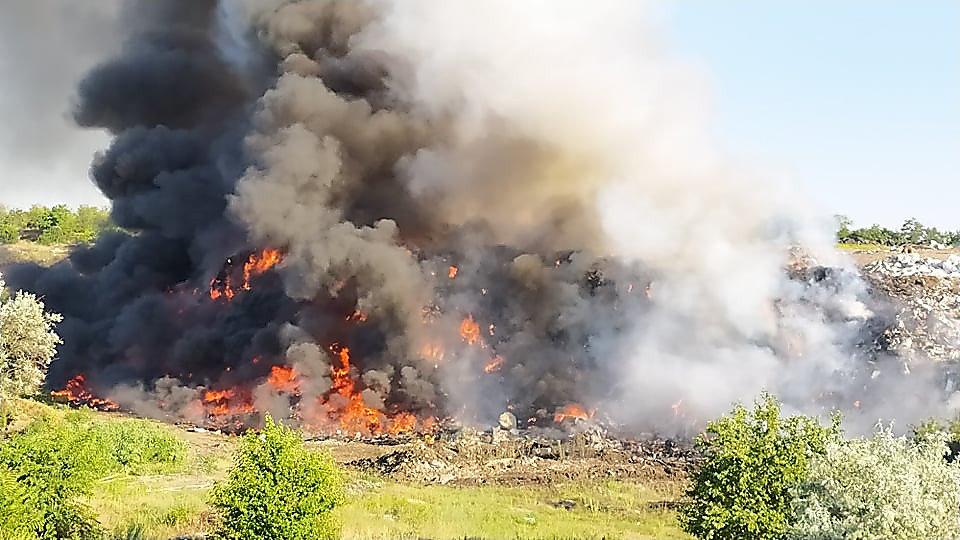 В Николаеве горела стихийная свалка, - ФОТО, фото-3