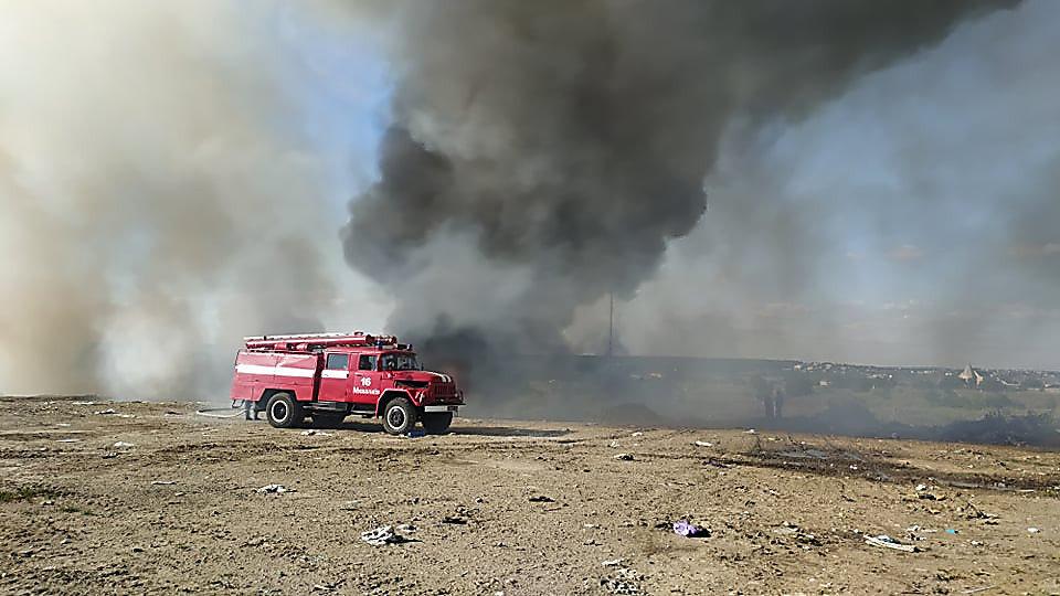 В Николаеве горела стихийная свалка, - ФОТО, фото-1