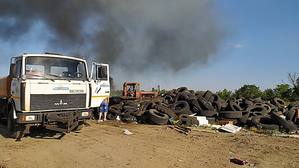 В Николаеве горела стихийная свалка, - ФОТО, фото-8