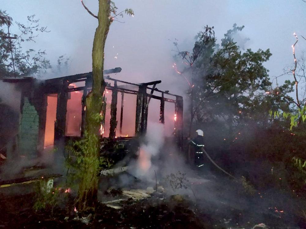 На Николаевщине горела неработающая база отдыха: подозревают поджог, - ФОТО, фото-1