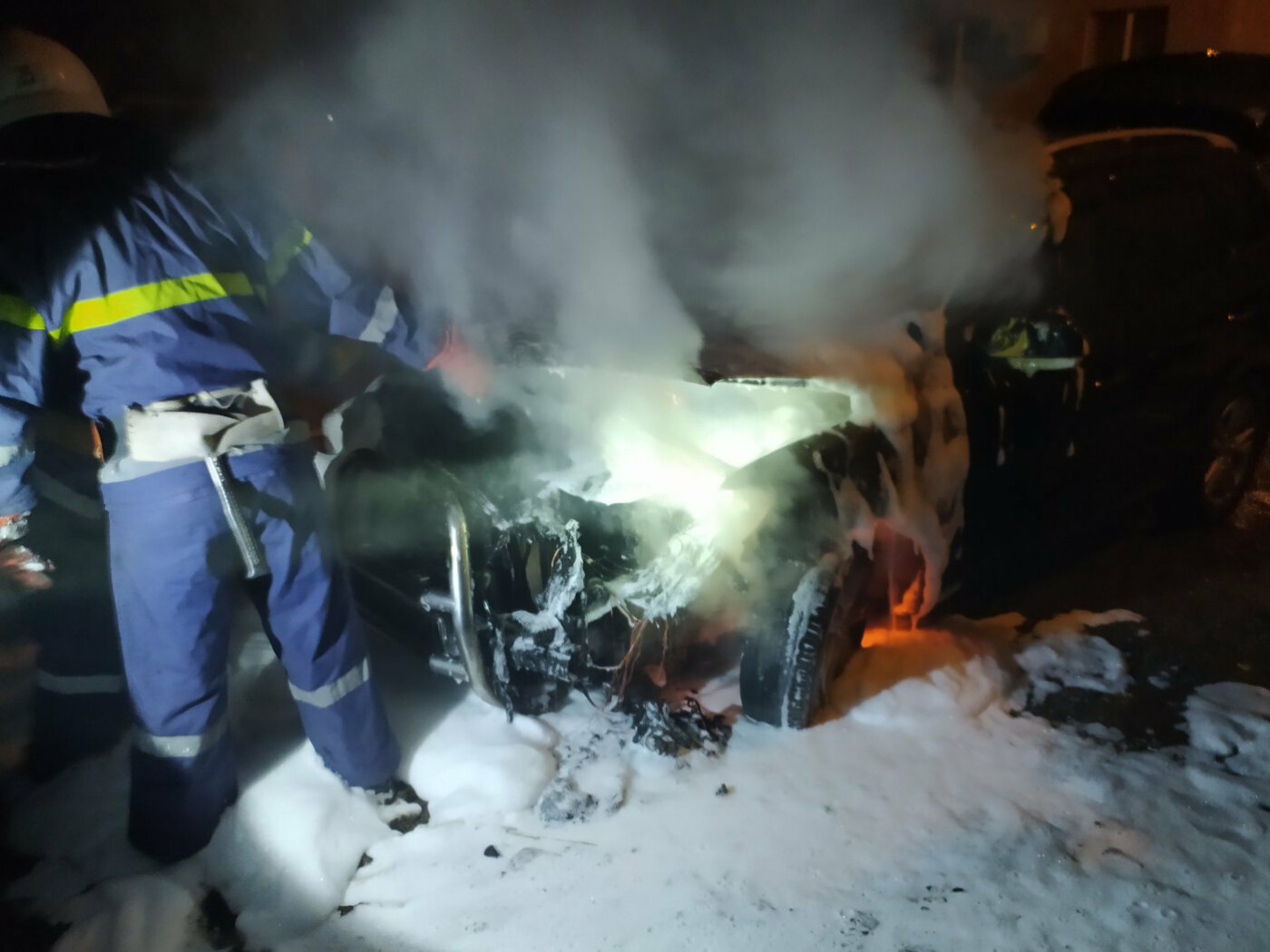 В Николаевской области сгорела иномарка, - ПРИЧИНА, ФОТО, фото-1