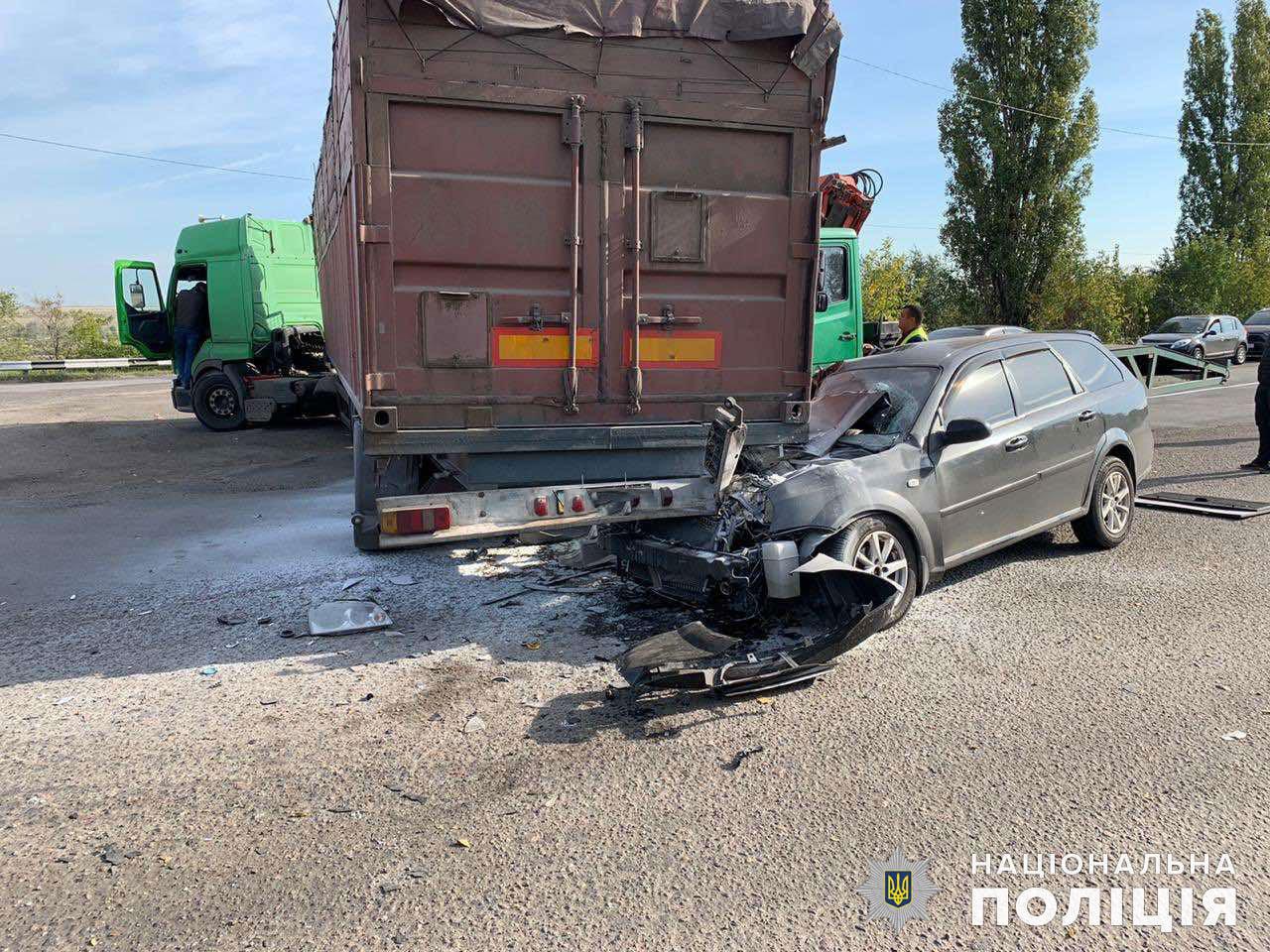На Николаевщине столкнулись грузовик и легковушка, - ФОТО, фото-1