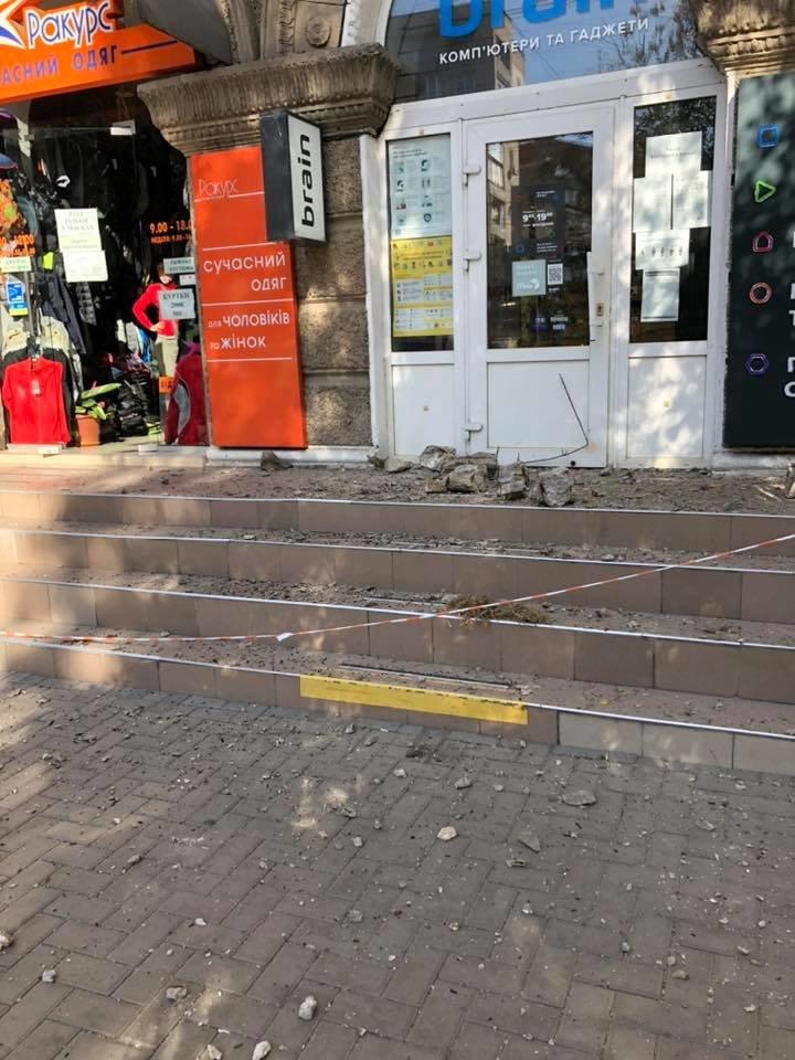 В центре Николаева обвалился балкон, - ФОТО, фото-1