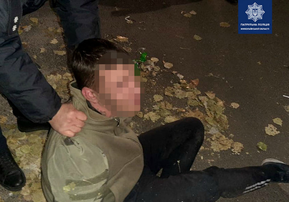 В Николаеве задержали пьяного угонщика