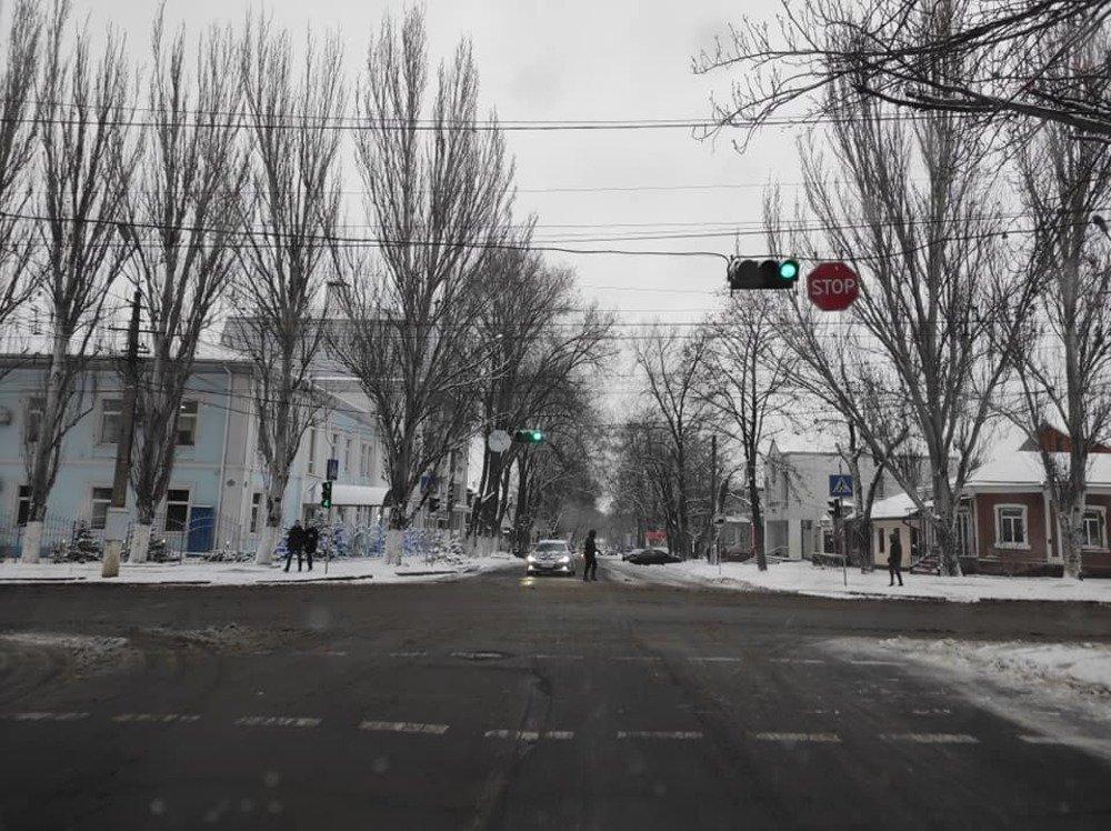 Расчистка дорог в Николаеве