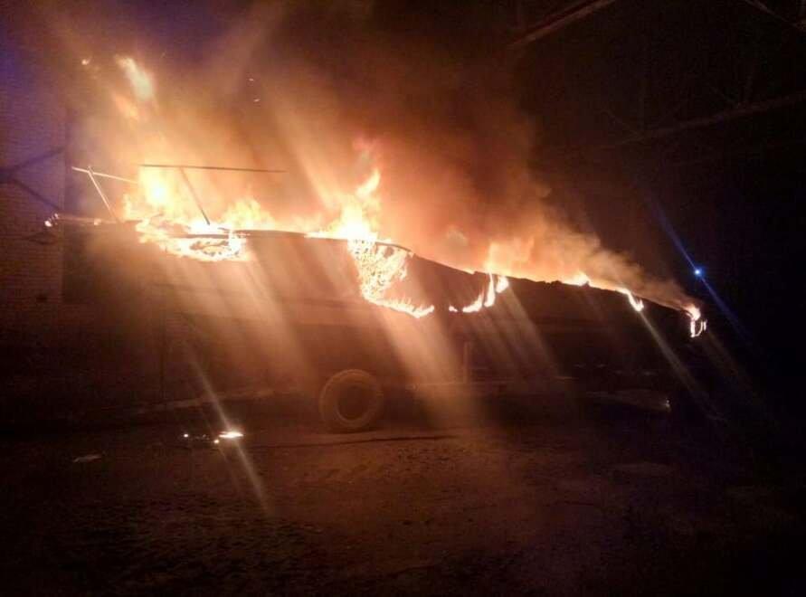 В Николаеве сгорел катер
