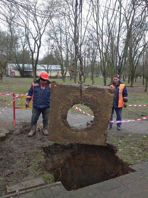 Обвал грунта в Николаеве