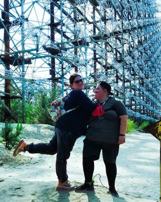 Кристина и Юлия в Чернобыле