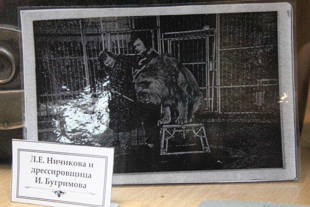Людмила Ничикова  и лев