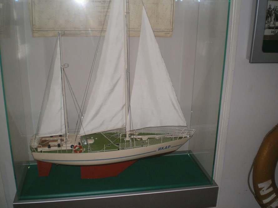 Макет яхты
